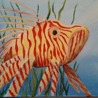 Lionfish Beach Art Paint Party