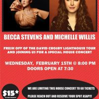 The Ghetto Palace Presents Becca Stevens and Michelle Willis On Wednesday, February 15, 2017