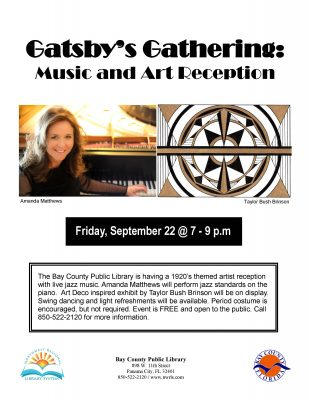 Gatsby's Gathering: Music and Art Reception