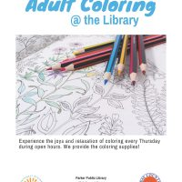 Adult Coloring at the Library