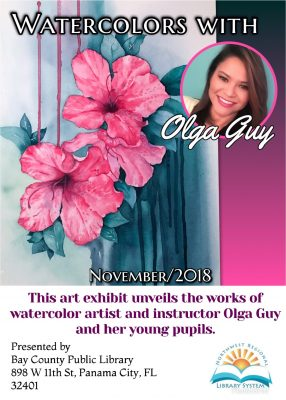 Watercolors with Olga Guy Art Exhibit