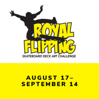 Royal Flipping Skateboard Deck Art Challenge